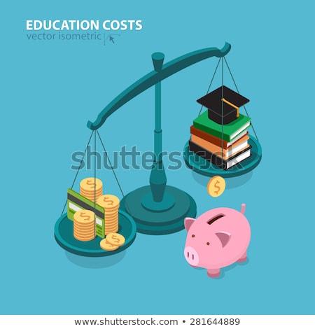 drága · tankönyvek · női · diák · lány · könyvek - stock fotó © elnur