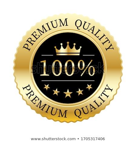 Vector prima calidad placa etiqueta rojo Foto stock © fresh_5265954