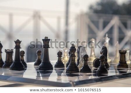 Moderna ajedrez establecer 3d inicio Foto stock © albund