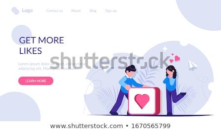 ビジネス女性 webボタン 中心 小さな 白人 ストックフォト © RAStudio