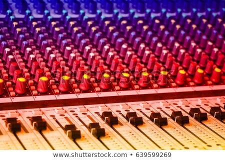サウンド コンソール カラフル ボタン 音楽 ラジオ ストックフォト © smuki