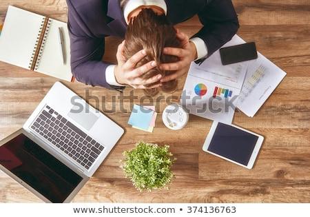 businessman in panic stress at work stock photo © studiostoks