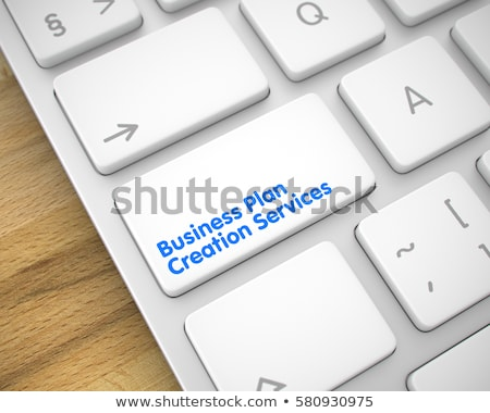 business plan creation   keyboard key concept 3d illustration stock photo © tashatuvango