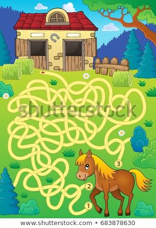 Maze 33 with horse theme Stock photo © clairev