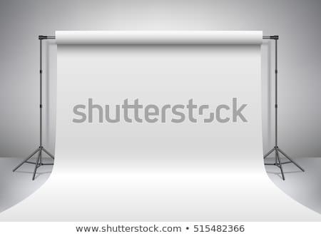 witte · lege · plank · verlicht · muur · licht - stockfoto © pikepicture
