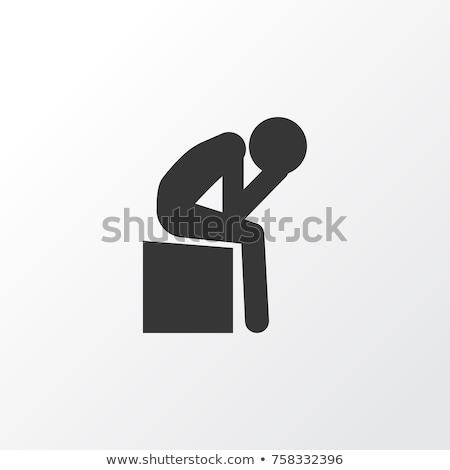 depression icon stock photo © bspsupanut