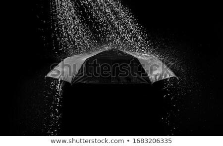 şemsiye siyah yağmur kırmızı yağmurlu Stok fotoğraf © romvo