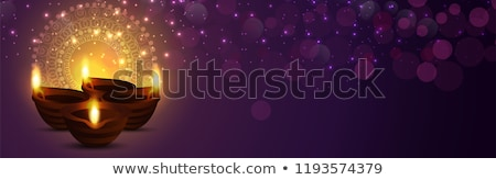 Stock photo: diwali sale background with diya and decorative design