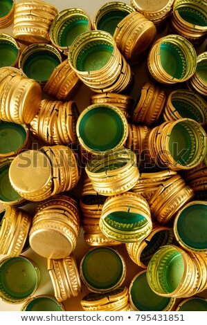 pile of bottle metal screw caps as pattern background stock photo © stevanovicigor