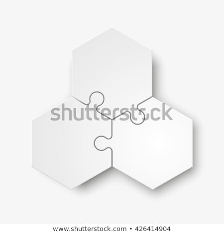 abstract puzzle icon 3 stock photo © oakozhan