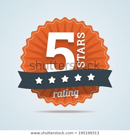 Five stars with golden ribbon Stock photo © blackmoon979