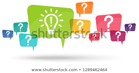 Questioning, analysis, planning, idea Stock photo © opicobello