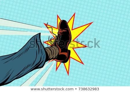 Biznesmen pop art stóp retro mężczyzn Zdjęcia stock © studiostoks