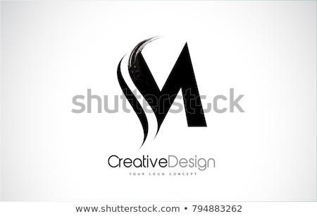 alfabeto · partículas · logotipo · vetor - foto stock © ggs