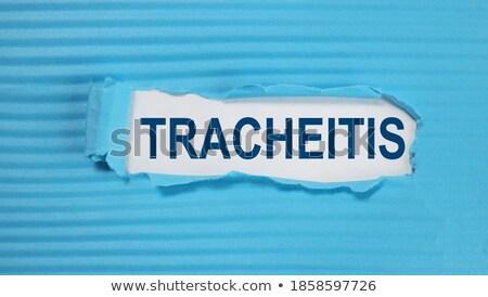 Diagnose medische afgedrukt Blauw pillen spuit Stockfoto © tashatuvango