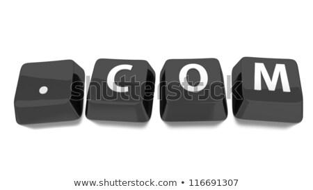 Web hosting siyah 3D klavye Stok fotoğraf © tashatuvango