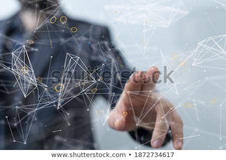 Stockfoto: Technologisch · samenwerking · 3D · business · calculator