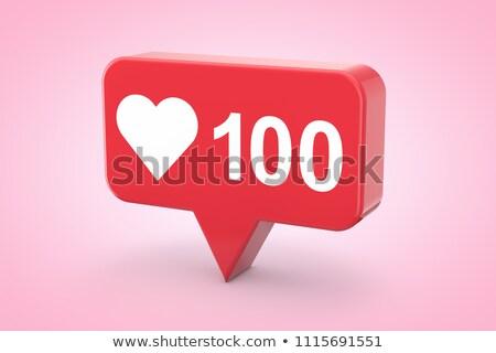 Positivo moderna botón 3D 3d Foto stock © tashatuvango