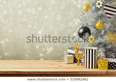 Güzel Noel yaratıcı ağaç dizayn kar Stok fotoğraf © SArts