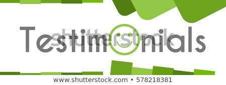 Afiş müşteri hizmetleri simgeler form daire yüz Stok fotoğraf © Genestro