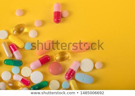Recept tabletták közelkép csoport fehér ki Stock fotó © wollertz