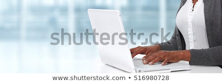Keyboard with Blue Keypad - Adult Education. Stock photo © tashatuvango