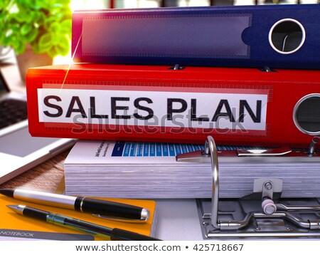 Red Ring Binder with Inscription Sales Plan. Stock photo © tashatuvango
