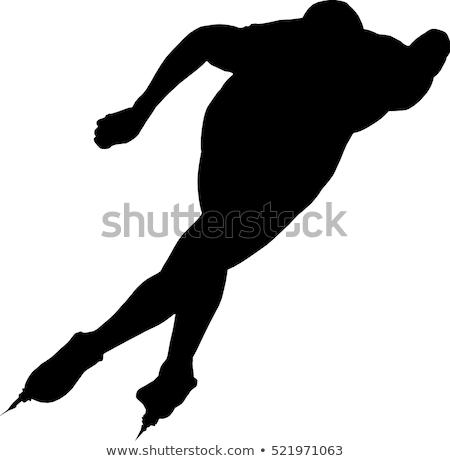 hızlandırmak · pateni · örnek · erkek · kış · çocuk - stok fotoğraf © rogistok