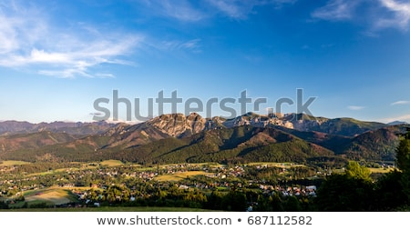 Foto stock: Montanhas · paisagem · belo · verão · dia