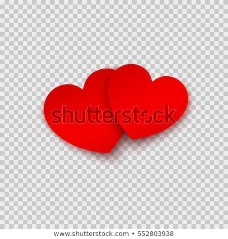 Piros Valentin nap szív árnyék izolált ikon Stock fotó © studioworkstock