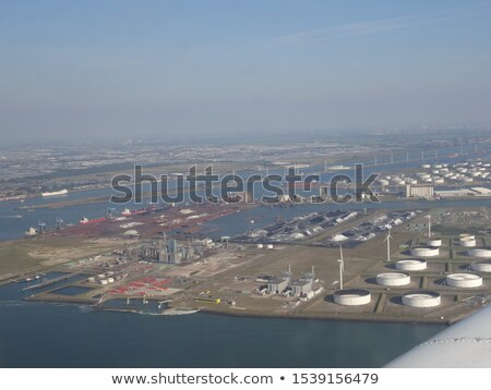 coal transfer in rotterdam harbour Stock photo © compuinfoto