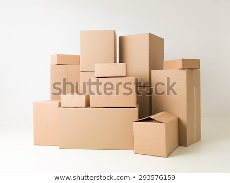 People stacking cardboard boxes Stock photo © IS2