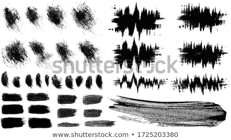 brush strokes banners with glitch effect stock photo © sonya_illustrations