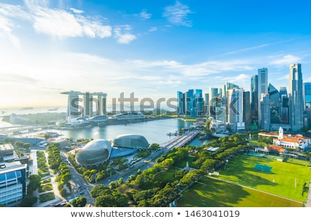 Singapore Skyline. Singapore's business district, famous Merlion Stock photo © Taiga
