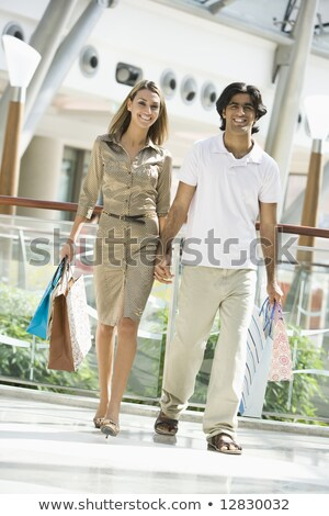 paar · vrouw · man · winkelen - stockfoto © monkey_business
