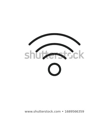 Wifi conexión línea icono vector aislado Foto stock © RAStudio
