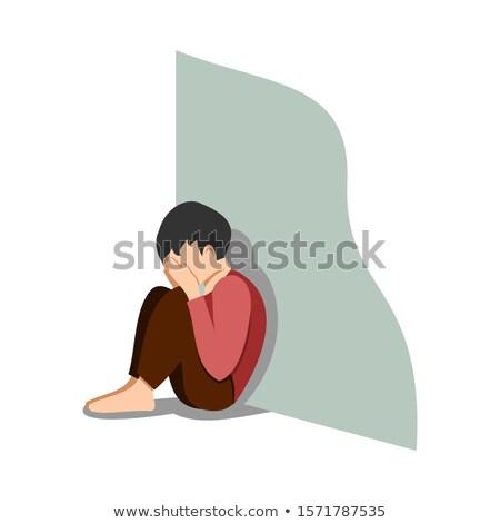 Teenage boy sat alone Stock photo © IS2
