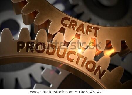 Producción dorado Cog artes 3d mecanismo Foto stock © tashatuvango