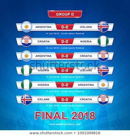 soccer world game event 2018 group d country team stock photo © cienpies