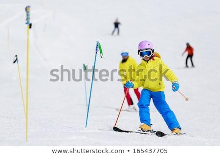 Teenagers running downhill Stock photo © IS2