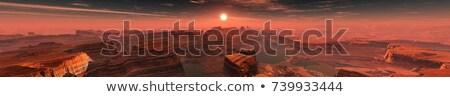 Amerika zonsopgang panorama 3D sterren Stockfoto © ixstudio