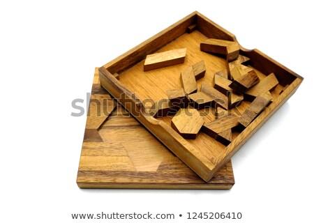 パズル 白 シルエット 孤立した おもちゃ ストックフォト © ajt