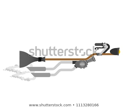 Witch broom Isolated. Broomstick Speeding turbo. Halloween Vecto Stock photo © popaukropa