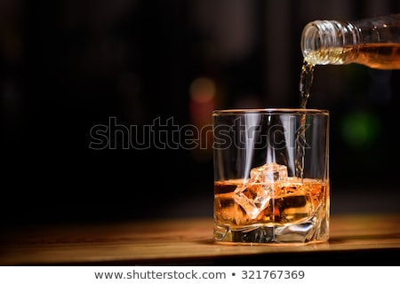 One glass of whiskey Stock photo © Givaga