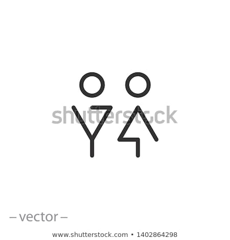 WC Sign Vector. Door Plate Design Element. Man, Woman. Female, Male. Toilet Icon. Directional Sign I Stock photo © pikepicture