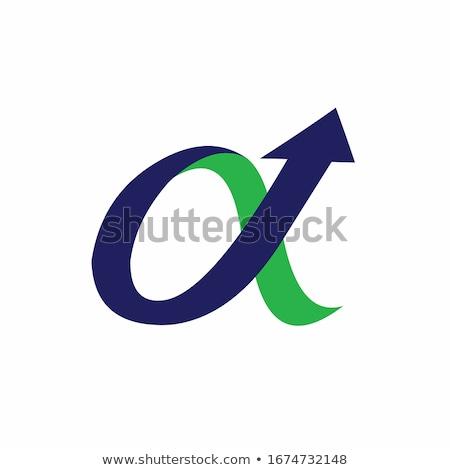 Alpha teken illustratie witte informatie professionele Stockfoto © get4net