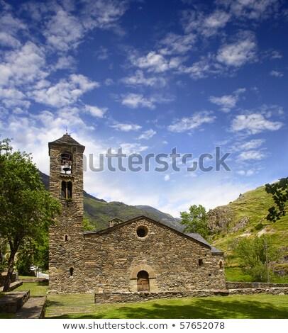 Sant Marti de la Cortinada Church in La Cortinada, Andorra Stock photo © benkrut