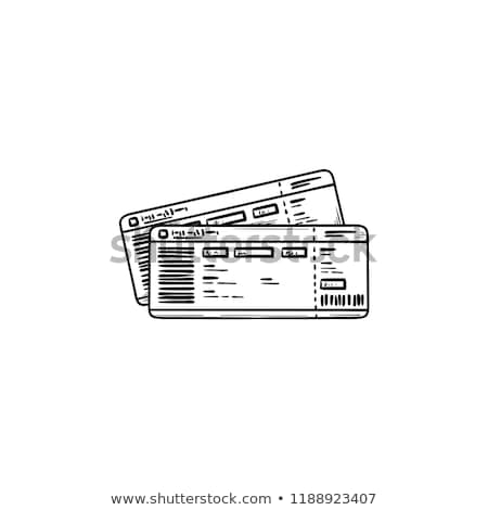 Train ticket hand drawn outline doodle icon. Stock photo © RAStudio