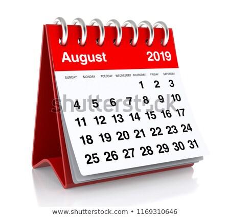 2019 year. Calendar for August. Isolated 3D illustration Stock photo © ISerg