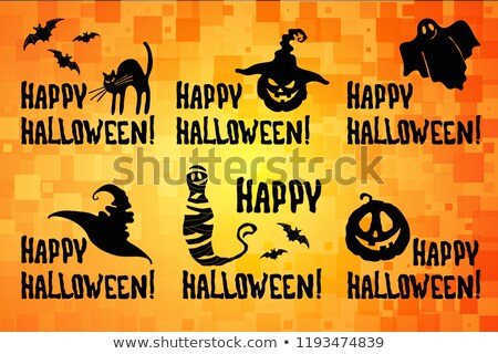 halloween · karakter · illusztráció · rajz · vicces · hátborzongató - stock fotó © tasipas
